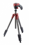 Штатив Manfrotto MKCOMPACTACN-RD Compact Action + голова (красный)