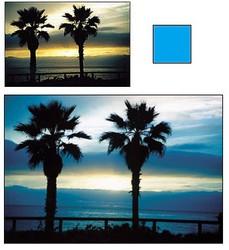 Цветные фильтры - голубой фильтр для объективов