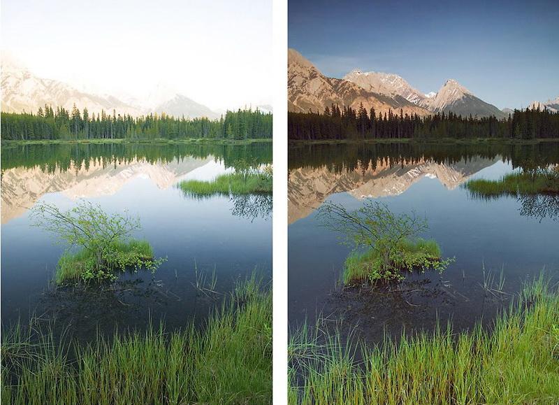 Градиентный фильтр - пример фото