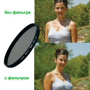 Нейтральный ND фильтр для объективов - пример фото