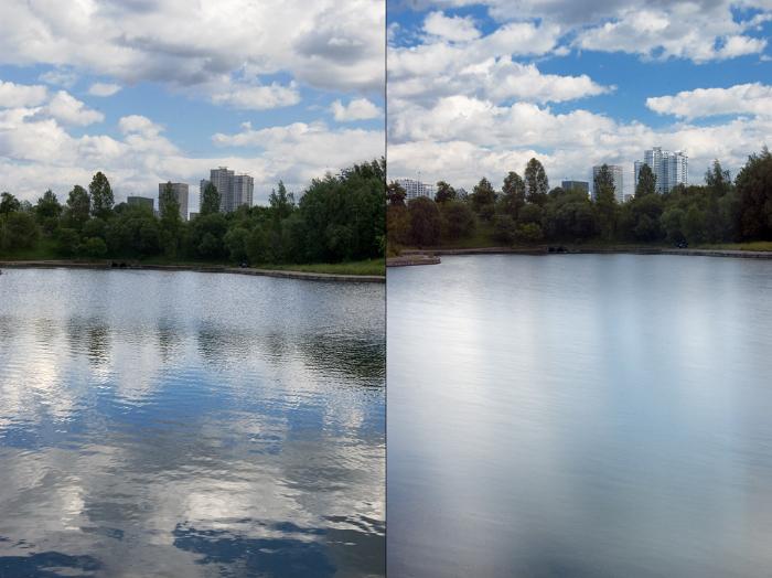 Нейтральный ND фильтр - пример фото