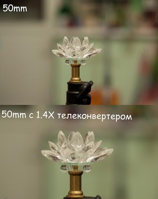 Телеконвертер - пример фото