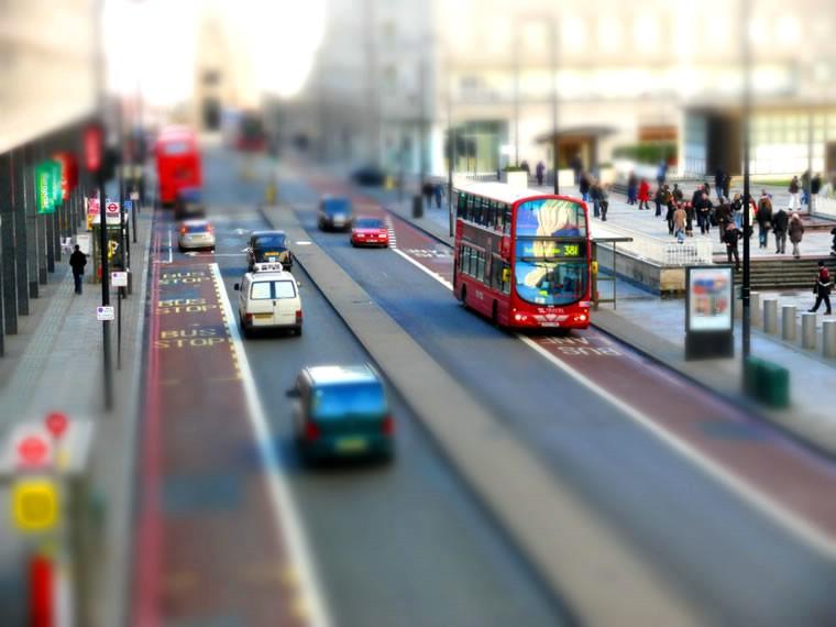 Эффект Tilt shift - пример фотографии